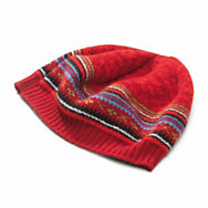 Eribé fair isle ladies' lambswool cap  | Accessories