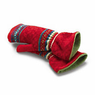 Eribé fair isle ladies' lambswool mittens  | Accessories