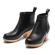 Swedish Hasbeens Damen-Stiefelette Holzsohle