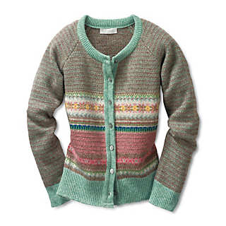 Eribé Damen-Strickjacke Fair Isle | Strickwaren