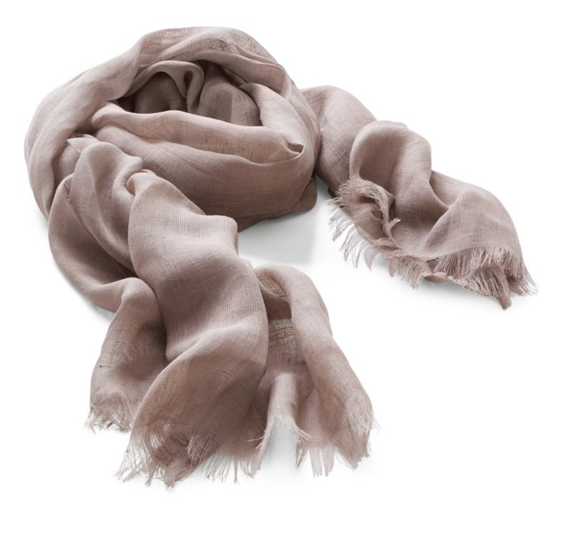Jurate Linen Scarf, Brown | Manufactum