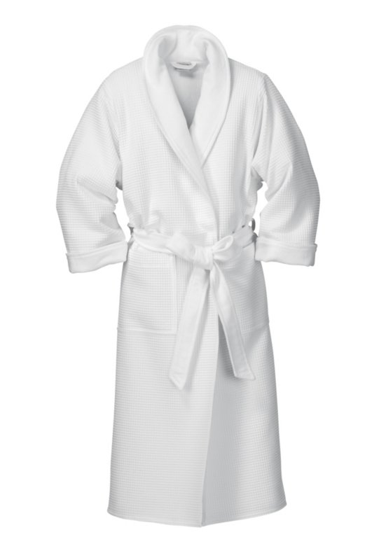 Ladies\' Honeycomb Piqué and Terry Dressing-gown, White | Manufactum