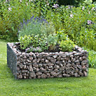 Elevated Gabion Flowerbed