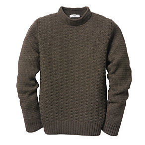 Inis Meáin Men's Stand-Up-Collar Sweater