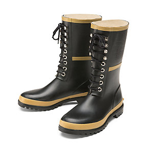 Lace-up Rubber Boots