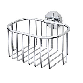 Shower basket, brass, chromium-plated