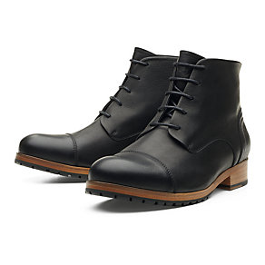 Zeha ankle high men's shoes made of cow leather