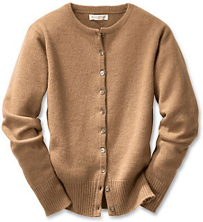 Ladies knitted Camelhair Cardigan