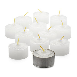 12 Tea Lights and 1 Tin Plate Dish
