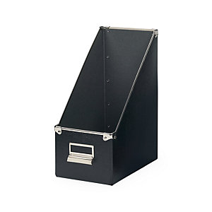 15 cm Metal Reinforced Magazine File Box, Black