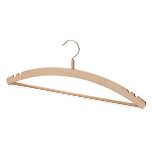 3 Clothes Hangers with a Wooden Bar