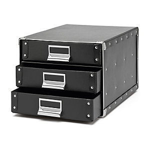 A4 Filing Cabinet Made of Pasteboard Black