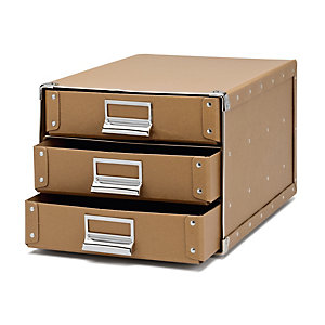 A4 Filing Cabinet Made of Pasteboard, Brown