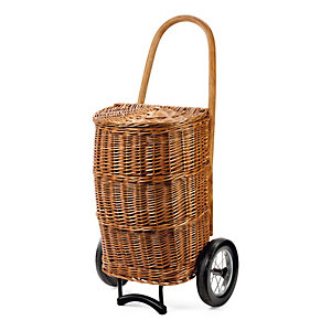 Andersen Wicker Basket Shopping Trolley