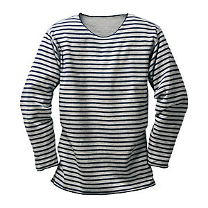 Armor lux Striped Shirt, Light Grey
