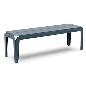 Bank Bended Bench 140, Graublau RAL 5008