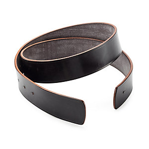 Belt Strap Made from Saddle Leather Dark Brown 85 cm