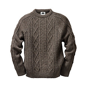 Black Sheep Aran Pullover, Brown