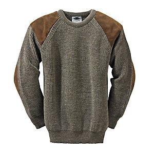 Black Sheep Knitted Pullover, Natural Dark Grey Mix