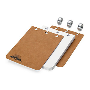 Blank Atoma A7 Note Pad Brown