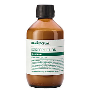 Body Lotion with Almond Oil by Manufactum, 250 ml glass bottle