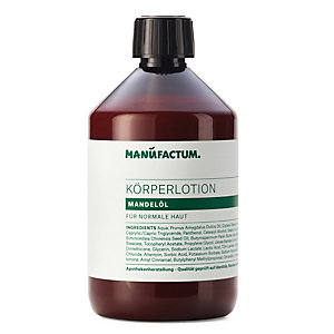 Body Lotion with Almond Oil by Manufactum 500 ml plastic bottle
