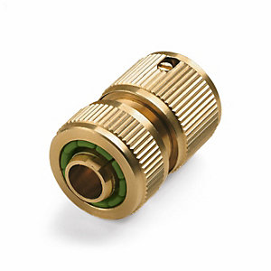 Brass Hose Connection with Water Stop