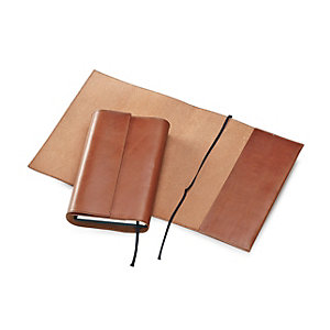 Calf Leather Book Jacket 25 x 43 cm