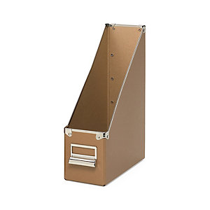 Cardboard Magazine Files Pasteboard, Brown
