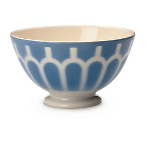 Ceramic Latte Bowl Small Arch/Blue