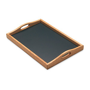Cherry Wood Tray Faced with Linoleum