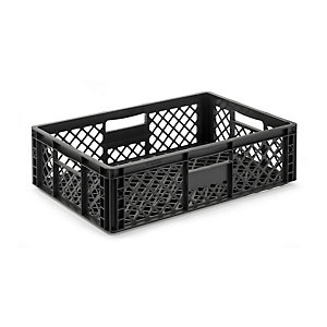 Container STOWAGE CRATE Medium Black Grey RAL 7021