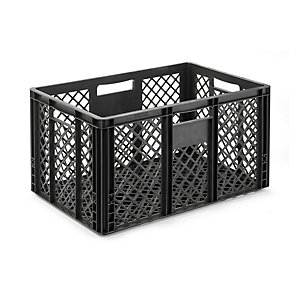 Container STOWAGE CRATE Large Black Grey RAL 7021