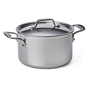 Cooking Pot Made of Stainless Steel, Volume 3.8 l
