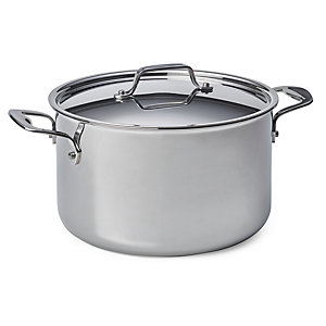 Cooking Pot Made of Stainless Steel, Volume 6.6 l