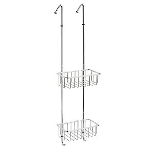 Dual Mobile Brass Shower Racks