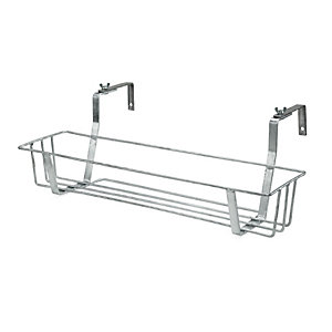 Galvanized Steel Balcony Pot / Box Holder Small