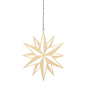 Gold-Plated Brass Large Flat Shining Star