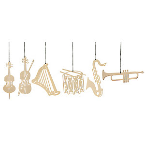 Gold-Plated Brass Pendant, Music instruments