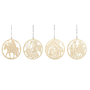 Gold-Plated Brass Pendant The Christmas Story