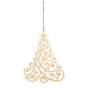 Gold-Plated Brass Pendant Christmas tree