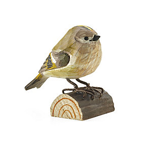 Goldcrest Hand-Carved from Lime Wood