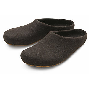 Gottstein Jura Sheep Felt Slippers, Dark brown