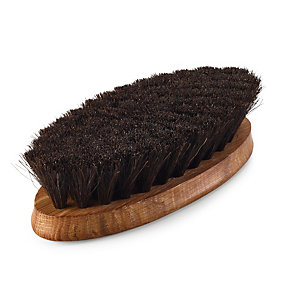 Horsehair Shoe Shine Brush, Dark