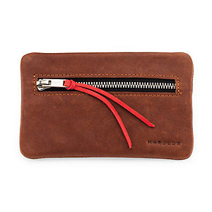 Key and Coin Pouch Supercourse Light Brown/Red