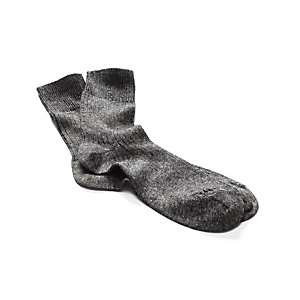 Long Life Socks Made of Merino Wool and Linen, Black-White