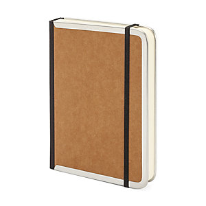 Metal Edged A6 Notebook Lined Brown