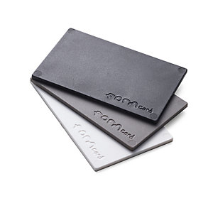 Modelling Material for Repairs Formcard, One card each in black, grey and white