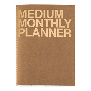 Monthly Schedule with Saddle Binding, A5