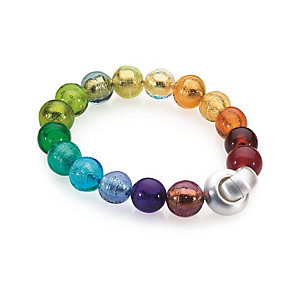 Murano Glass Bracelet with Copper Colorful